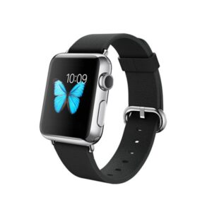 APPLE-Watch-38mm-Stainless-Steel-Case-with-Black-Classic-Buckle-MJ312-side