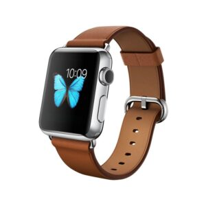 APPLE-Watch-38mm-Stainless-Steel-Case-with-Brown-Classic-Buckle-MLCL2-side