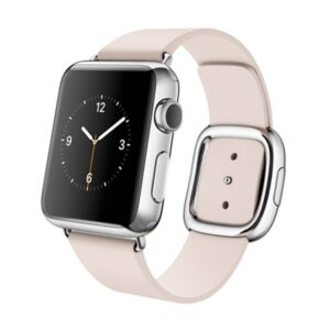 MJ392_Apple Watch 38mm Large Stainless Steel Case Soft Pink Modern Buckle1