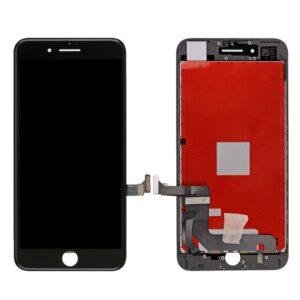 Sprednje nadomestno steklo za Apple Iphone 7 Plus + LCD črne barve