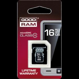 GOODRAM MicroSD 16GB kartica z adapterjem Class 10