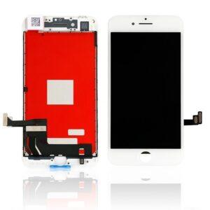 Sprednje nadomestno steklo za Apple Iphone 8 + LCD bele barve