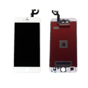 Sprednje nadomestno steklo za Apple Iphone 6S Plus + LCD bele barve