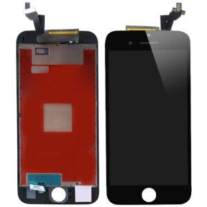 Sprednje nadomestno steklo za Apple Iphone 6S Plus + LCD črne barve