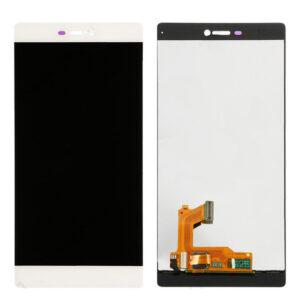 Sprednje nadomestno steklo za Huawei Ascend P8 + LCD bele barve