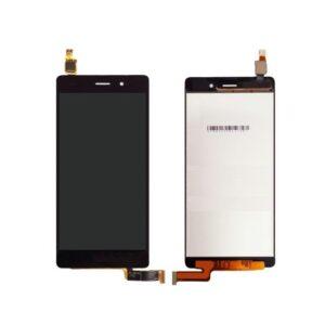 Sprednje nadomestno steklo za Huawei Ascend P8 Lite + LCD črne barve