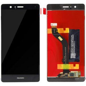 Sprednje nadomestno steklo za Huawei Ascend P9 Lite + LCD črne barve