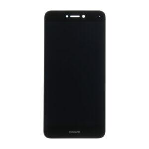 Sprednje nadomestno steklo za Huawei Ascend P8/P9 Lite (2017)  + LCD črne barve