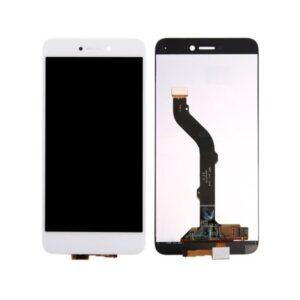 Sprednje nadomestno steklo za Huawei Ascend P8/P9 Lite (2017)  + LCD bele barve