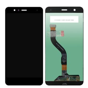 Sprednje nadomestno steklo za Huawei Ascend P10 Lite + LCD črne barve