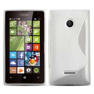 Gumirani zaščitni ovitek (TPU) S-Line za Microsoft Lumia 532 White