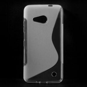 Gumirani zaščitni ovitek (TPU) S-Line za Microsoft Lumia 550 Transparent