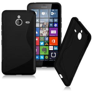 Gumirani zaščitni ovitek (TPU) S-Line za Microsoft Lumia 640XL Black