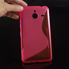 Gumirani zaščitni ovitek (TPU) S-Line za Microsoft Lumia 640XL Pink