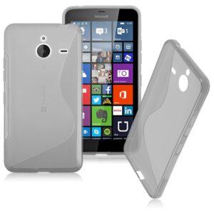 Gumirani zaščitni ovitek (TPU) S-Line za Microsoft Lumia 640XL Transparent
