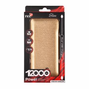 Mobilna baterija Power Bank Slim 12000mAh Tel1 Gold