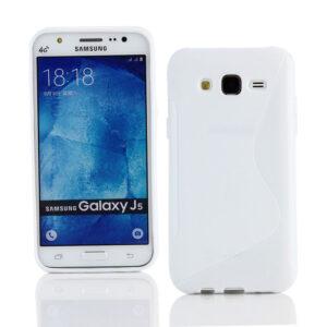 Gumirani zaščitni ovitek (TPU) S-Line Samsung J500 Galaxy J5 White