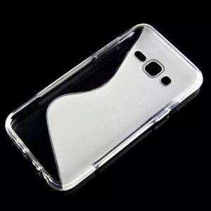 Gumirani zaščitni ovitek (TPU) S-Line Samsung J500 Galaxy J5 Transparent