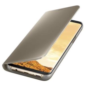 Original zaščitna preklopna torbica za Samsung Galaxy G955 S8 Plus Clear View (ef-zg955cfe) Gold