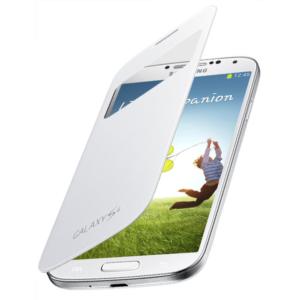 Original zaščitna preklopna torbica Samsung I9500/I9505 Galaxy S4 z okencem (ef-ci950bwegww) White