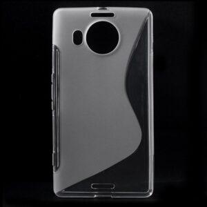 Gumirani zaščitni ovitek (TPU) S-Line za Microsoft Lumia 950 Transparent
