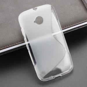 Gumirani zaščitni ovitek (TPU) S-Line Motorola Moto E (XT1524) Transparent