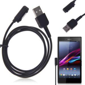 USB podatkovno-polnilni kabel Sony - Magnetno polnjenje Black